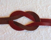 Infinity Knot Bracelet Red and Brown