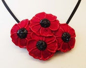Four Poppies necklace (also a brooch)
