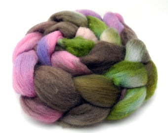 Garden Of Live Flowers - Hand Dyed Roving - Spinning Fiber - BFL - Falkland - Shetland - Targhee- Cheviot - Dyed to Order