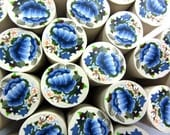 "Polymer clay milefiore canes. 1"" wide. Detailed bouquet flowers"