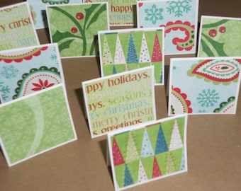 Christmas Sparkle  Note Cards / Gift Tags / Place Cards Set Of 20