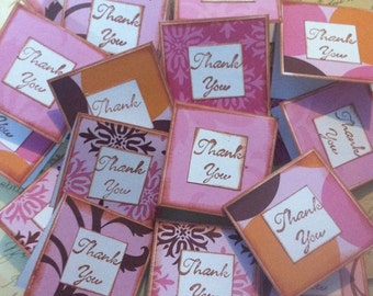 Pretty In Pink mini thank you cards- set of 20