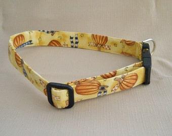 Pumpkils with bows - Dog Collar