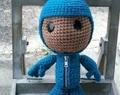 Sackboy in teal bunny costume