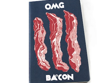 OMG Bacon Moleskine sketchbook/notebook