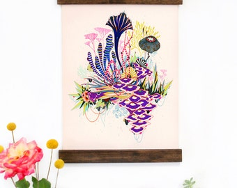 Wall Art - Hanging Canvas Art Print - Inspired by Vintage Botanical Charts and Vintage Science Posters, Fine Art Print, Art Poster Radiance