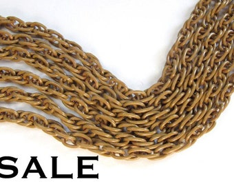 Vintage Brown Enamel Rope Chain (3 Feet) (C625) SALE - 25% off
