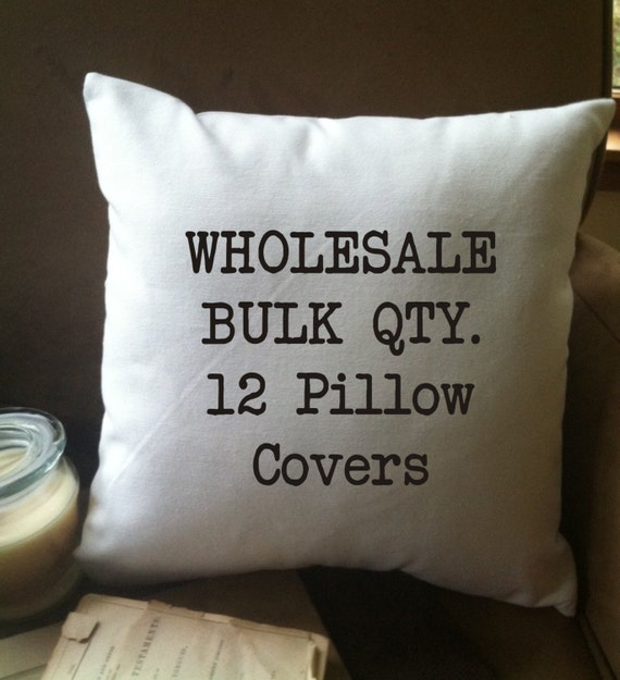"Items similar to 12 pillow covers 14""x14"" wholesale bulk order"