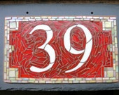 Mosaic House Number on Sl...