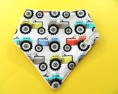 Baby Boy Bib, Baby Bandana Bib, Baby Bibs, Drool Bib, Dribble Bib, Baby Boy Gift, Tractors