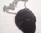Hannibal Lector Embossed Necklace - Silence Of The Lambs
