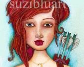 Card Sagittarius Zodiac Sign Note Cards, Suzi Blu Astrology Art Greeting Cards