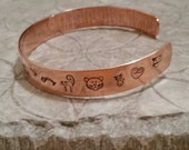 Kitty Cat Lover copper hand stamped cuff bracelet perfect gift for animal lovers