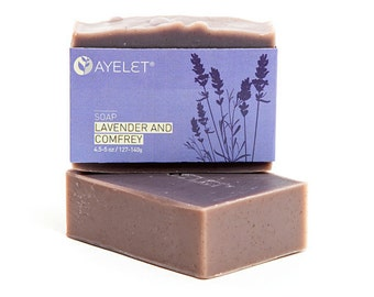 Organic Lavender Soap with Meadowfoam Oil and Comfrey, Organic Ingredients, Vegan Friendly