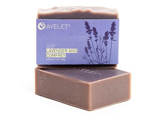 Organic Lavender Soap with Meadowfoam Oil and Comfrey, Organic Ingredients, Vegan Friendly