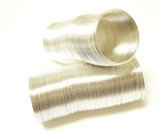 65 Circles 21mm silver finish memory wires-6116A