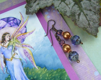 Medieval Maiden Card ~ Fantasy Art Card ~ Fantasy Art Gift Card ~ Earring Card ~ Dragon Keeper ~ Art Greeting Card ~ Gift Card ~ 5X7
