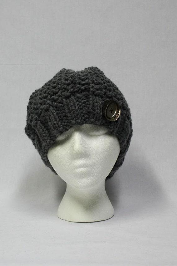Bulky Knit Hat Pattern : Bulky Slouchy Hat knitting PATTERN warm bulky knit stocking