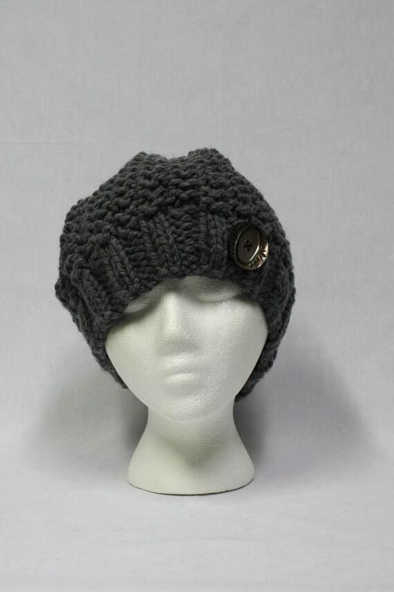Bulky Slouchy Hat knitting PATTERN warm bulky knit stocking
