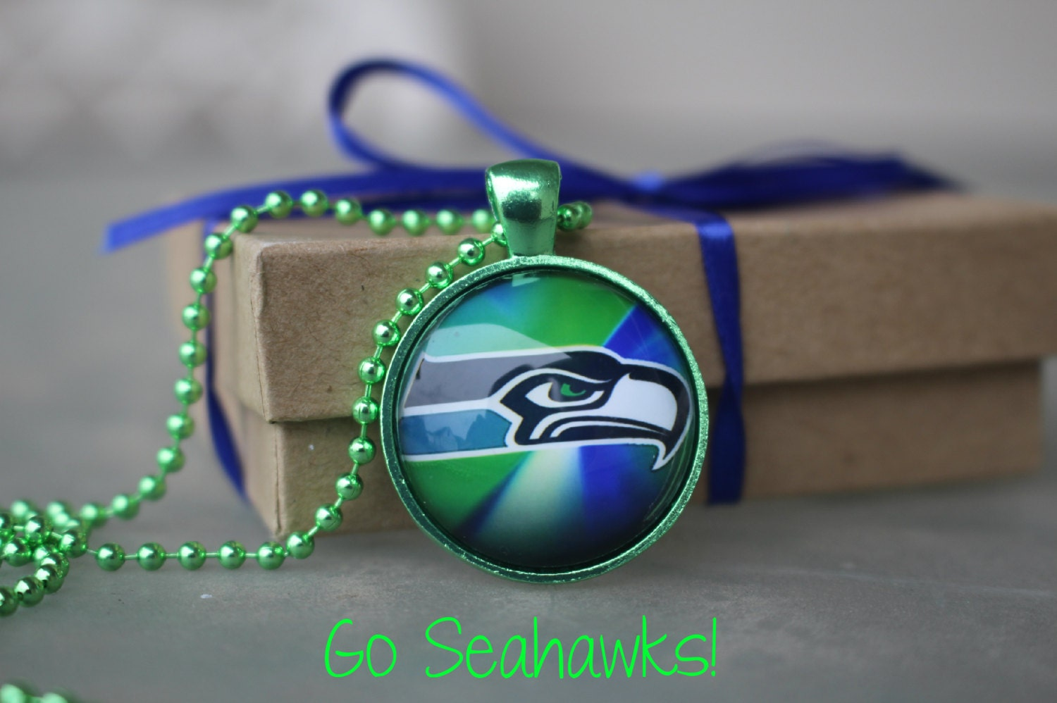 seahawks jewelry 1 seattle seahawks jewelry glass pendant and necklace nfl 9929