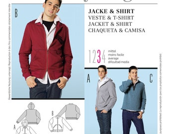 Burda Young Sewing PATTERN - B7734 - Jacket and Shirt - Sizes 34-46