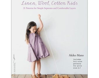 Linen, Wool, Cotton Kids BOOK - Akiko Mano