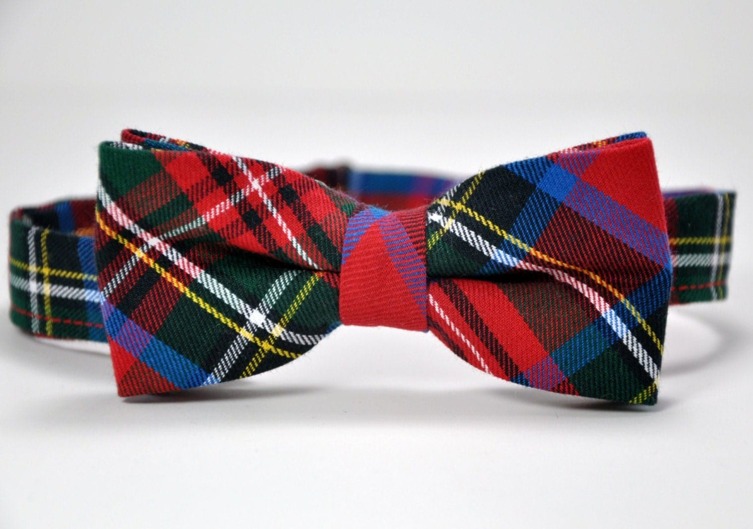 Bow Tie Stewart Plaid Bowtie Christmas Bow Tie Red And