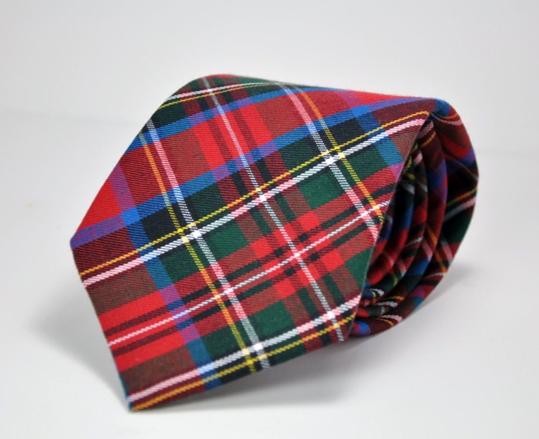 Red Tartan Plaid Necktie Royal Stewart Tartan Tie