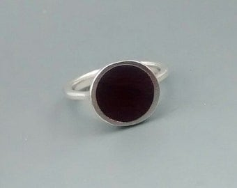 Black and Sterling Silver Ring