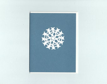 Special Snowflake #4 - papercut collage card