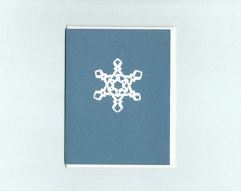 Special Snowflake #3 - papercut collage card