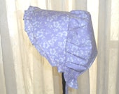 Sunbonnet Lavender Floral Silhouettes Toddler 9 to 24 months LIMITED 11USD