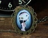 Steampunk Pop Surrealism Lowbrow Heatherette rag doll Necklace