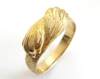 Paw to Paw Gold Ring - Animal Ring - Wolf Ring - Cat Ring - Mens Wedding Ring - Engagement Ring - Handmade - Rickson Jewelleryp