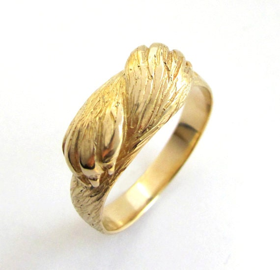 paw to paw gold ring animal ring wolf ring cat ring