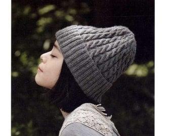Handmade Knit Boushi Hats - Japanese Craft Pattern Book