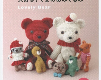 Lovely Bear Amigurumi - Japanese Craft Book