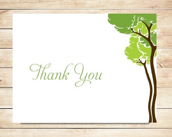Woodland Tree Thank You Cards