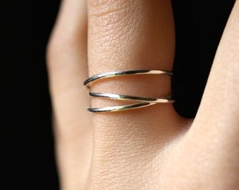 Sterling Silver Wraparound ring, sterling silver wrap ring, wrapped silver ring, silver stack ring, silver wrap around ring