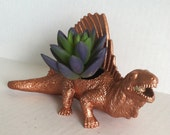 Bronze Dinosaur Planter Great Dorm Office Home Decor Gift for Get Well  Boss' Teachers