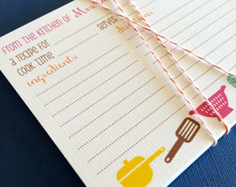 As seen on SOUTHERN LIVING Magazine- Personalized recipe cards, 8 sets of 20