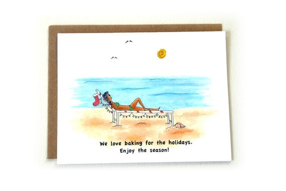 Christmas Cards Holiday Baking Coastal Christmas Tropical