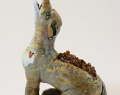 Coyote the Trickster, Animal Totem, Figurine, Animal Medicine, Clay, Citrine Gemstone, Crystal, Solar Plexus Chakra
