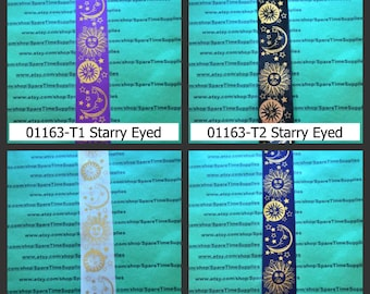 """Offray - Ribbon #7 - 01163 Starry Eyed - assorted designs - 9 ft x 1 3/8"""" - 1 spool"""