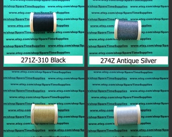 DMC - Metallic Embroidery Thread - assorted colors - 43.7 yds -1 spool