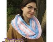 Transgender Pride Scarf Crochet Infinity