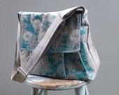 Robins Egg Blue Dandelion Camera Bag LARGE Purse