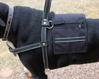 Mobility Harness Vest, Harness Cape - Service Dog Harness Vest with pockets, attaches to Harness - Guide, Assistance or similar type Harness