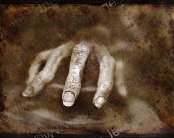 The Creepy Hand - 6x8 - BW Toned, Rusty, Sepia, Polaroid TTV Style, Horror Photography By Jean Lannen