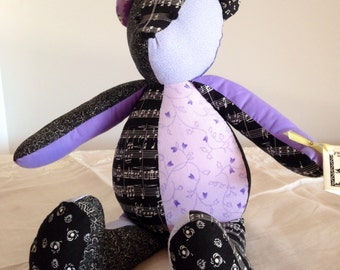 Quilted Teddy Bear - Music and Lavender